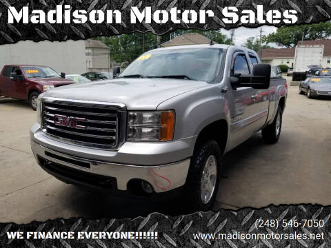 2011 GMC Sierra 1500 for sale at Madison Motor Sales in Madison Heights MI