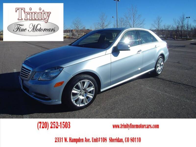 2013 Mercedes-Benz E-Class for sale at TRINITY FINE MOTORCARS in Sheridan CO