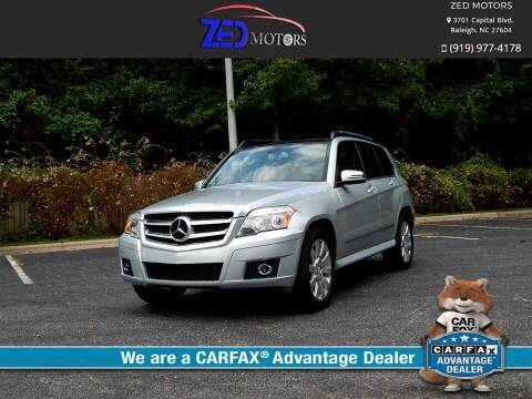 2010 Mercedes-Benz GLK for sale at Zed Motors in Raleigh NC