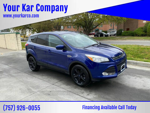 2016 Ford Escape for sale at Your Kar Company in Norfolk VA
