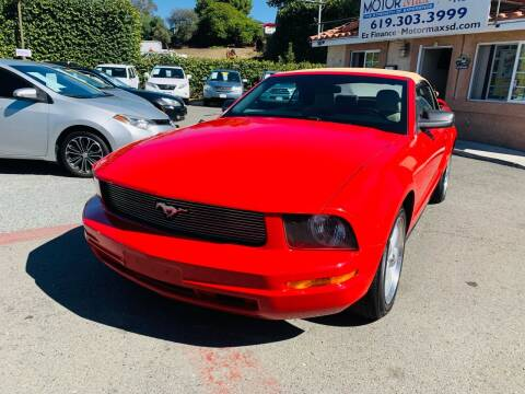 2005 Ford Mustang for sale at MotorMax in Lemon Grove CA