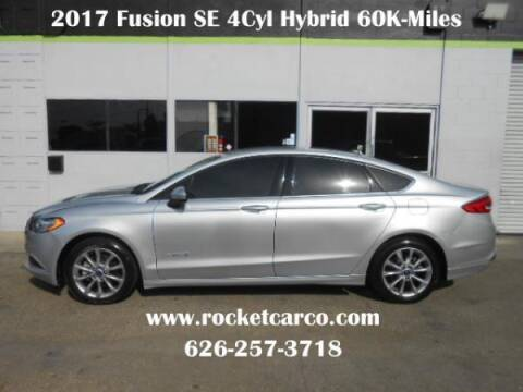 2017 Ford Fusion Hybrid for sale at Rocket Car sales in Covina CA
