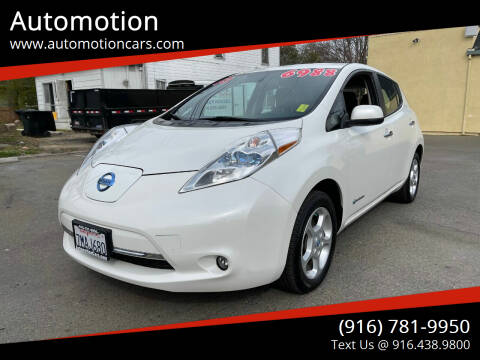 2013 Nissan LEAF for sale at Automotion in Roseville CA