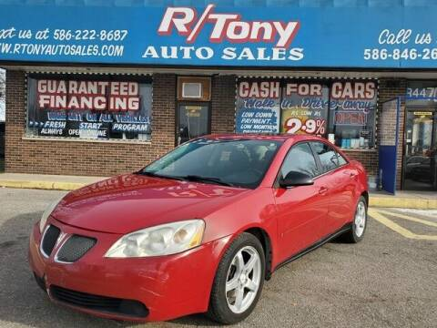 2007 Pontiac G6 for sale at R Tony Auto Sales in Clinton Township MI