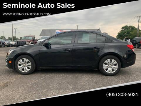 2015 Chevrolet Cruze for sale at Seminole Auto Sales in Seminole OK