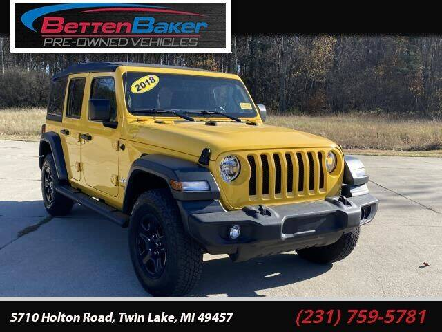 2018 Jeep Wrangler Unlimited for sale at Betten Baker Preowned Center in Twin Lake MI