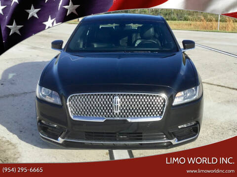 2018 Lincoln Continental for sale at Limo World Inc. in Seminole FL