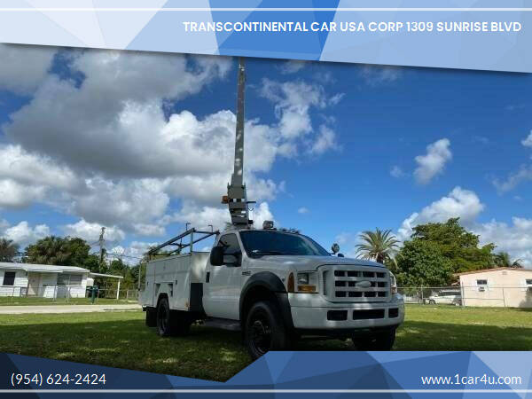 2007 Ford F-450 Super Duty for sale at Transcontinental Car in Fort Lauderdale FL