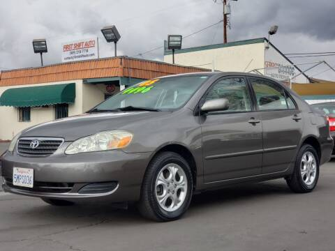 2005 Toyota Corolla for sale at First Shift Auto in Ontario CA