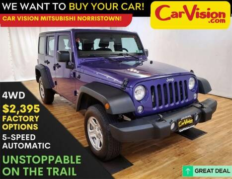 2017 Jeep Wrangler Unlimited for sale at Car Vision Mitsubishi Norristown in Norristown PA