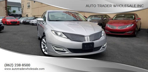2015 Lincoln MKZ for sale at Auto Trader Wholesale Inc in Saddle Brook NJ