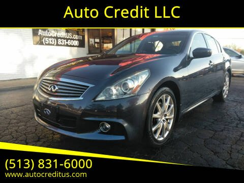 2011 Infiniti G37 Sedan for sale at Auto Credit LLC in Milford OH