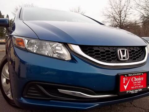 2014 Honda Civic for sale at 1st Choice Auto Sales in Fairfax VA