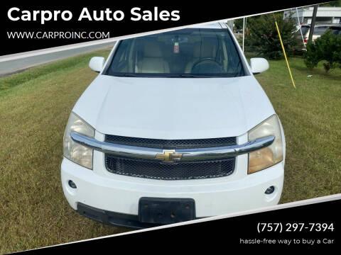 2009 Chevrolet Equinox for sale at Carpro Auto Sales in Chesapeake VA