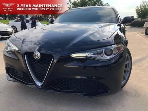 2017 Alfa Romeo Giulia for sale at European Motors Inc in Plano TX