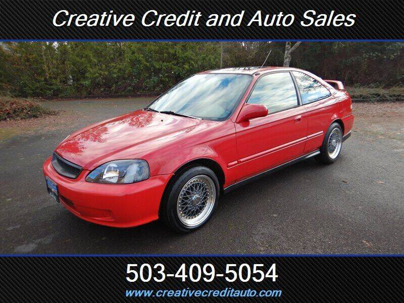 2000 Honda Civic for sale at Creative Credit & Auto Sales in Salem OR