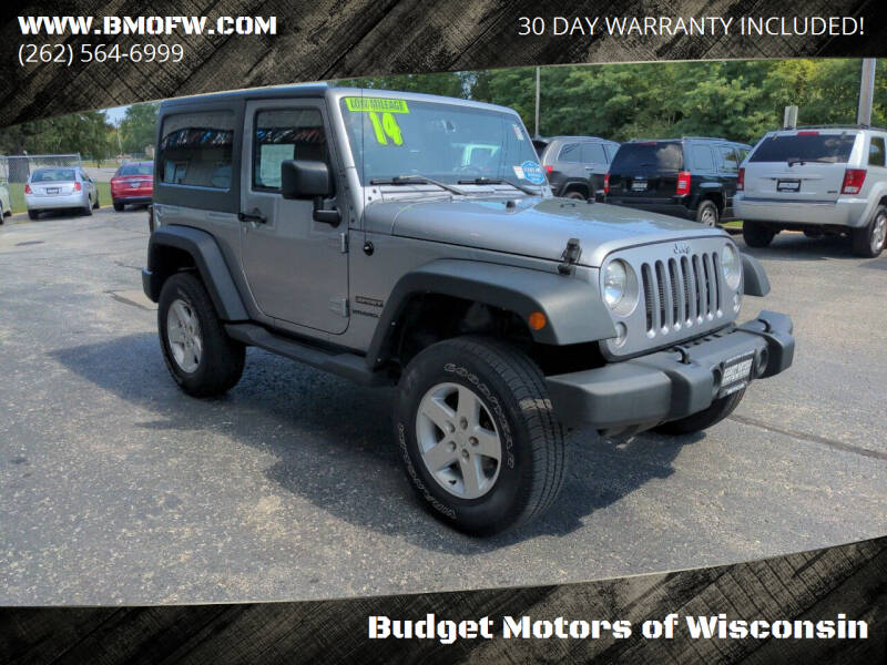 2014 Jeep Wrangler for sale at Budget Motors of Wisconsin in Racine WI