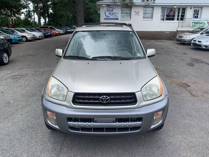2001 Toyota RAV4 for sale at MEEK MOTORS in North Chesterfield VA