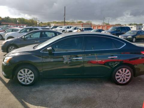 2014 Nissan Sentra for sale at BIG 7 USED CARS INC in League City TX