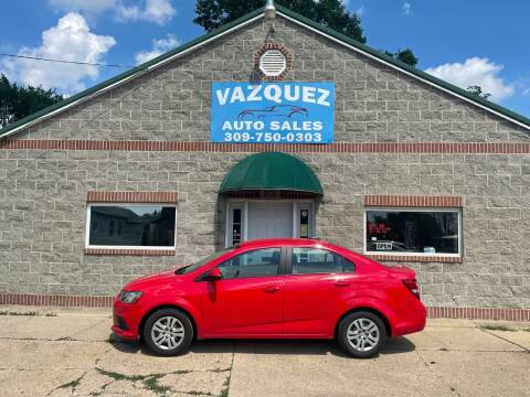 2017 Chevrolet Sonic for sale at VAZQUEZ AUTO SALES in Bloomington IL