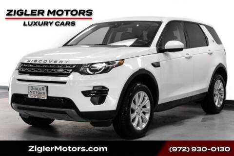 2017 Land Rover Discovery Sport for sale at Zigler Motors in Addison TX