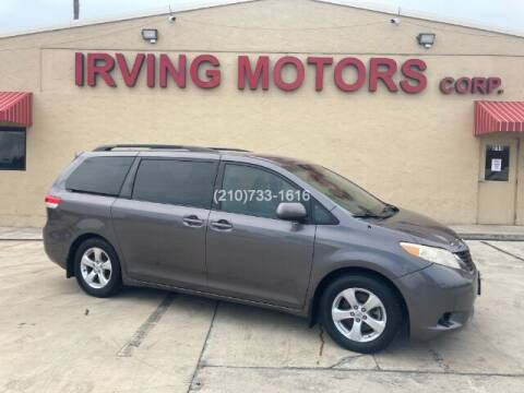 2012 Toyota Sienna for sale at Irving Motors Corp in San Antonio TX