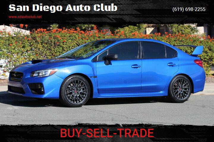 2016 Subaru WRX for sale at San Diego Auto Club in Spring Valley CA