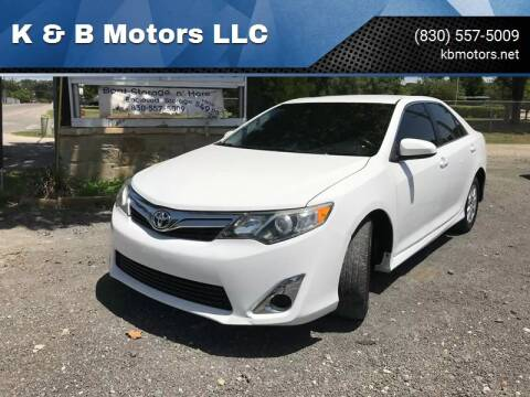 2012 Toyota Camry for sale at K & B Motors LLC in Mc Queeney TX