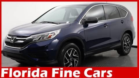 2016 Honda CR-V for sale at Florida Fine Cars - West Palm Beach in West Palm Beach FL