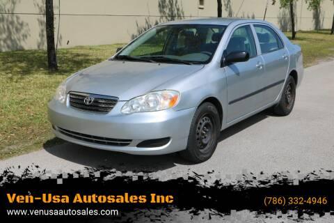2008 Toyota Corolla for sale at Ven-Usa Autosales Inc in Miami FL