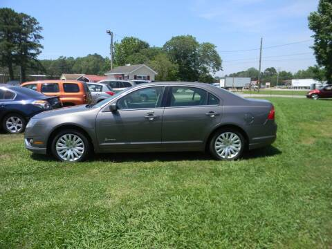 2012 Ford Fusion Hybrid for sale at SeaCrest Sales, LLC in Elizabeth City NC