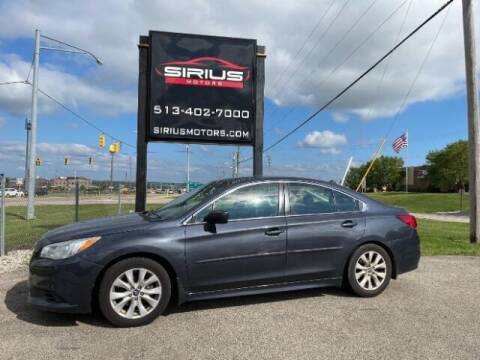 2017 Subaru Legacy for sale at SIRIUS MOTORS INC in Monroe OH