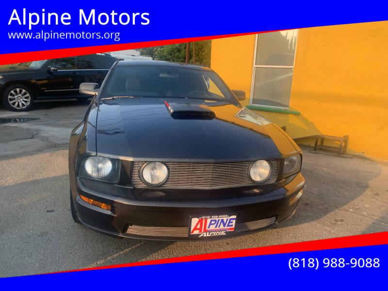 2008 Ford Mustang for sale at Alpine Motors in Van Nuys CA