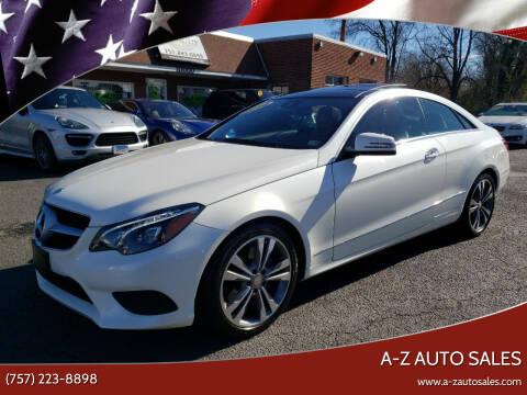 2016 Mercedes-Benz E-Class for sale at A-Z Auto Sales in Newport News VA