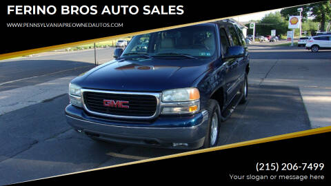 2001 GMC Yukon for sale at FERINO BROS AUTO SALES in Wrightstown PA