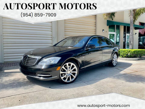 2012 Mercedes-Benz S-Class for sale at AUTOSPORT MOTORS in Lake Park FL