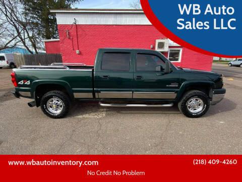 2003 Chevrolet Silverado 2500HD for sale at WB Auto Sales LLC in Barnum MN