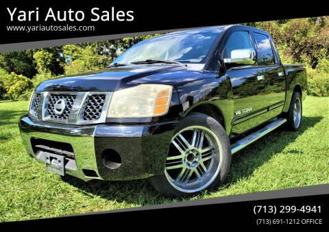 2007 Nissan Titan for sale at Yari Auto Sales in Houston TX
