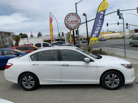 2013 Honda Accord for sale at San Mateo Auto Sales in San Mateo CA