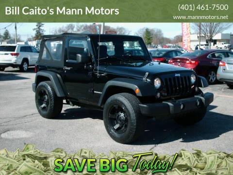 2014 Jeep Wrangler for sale at Bill Caito's Mann Motors in Warwick RI