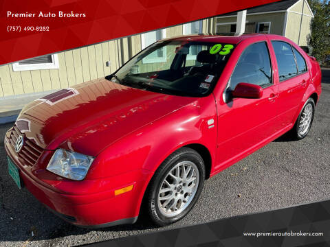 2003 Volkswagen Jetta for sale at Premier Auto Brokers in Virginia Beach VA