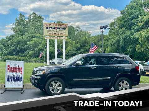 2012 Jeep Grand Cherokee for sale at Lafayette Motors 2 in Andover NJ