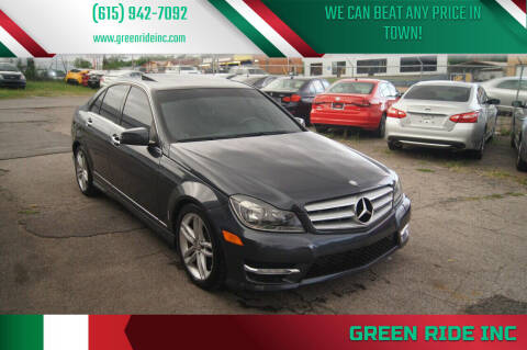 2013 Mercedes-Benz C-Class for sale at Green Ride Inc in Nashville TN