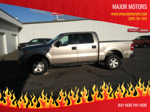 2004 Ford F-150 for sale at Major Motors in Twin Falls ID