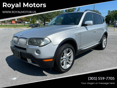 2008 BMW X3 for sale at Royal Motors in Hyattsville MD