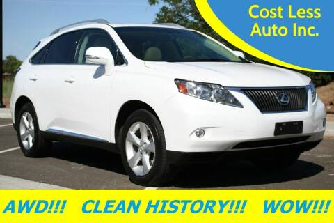 2010 Lexus RX 350 for sale at Cost Less Auto Inc. in Rocklin CA