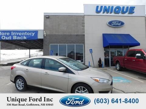 2018 Ford Focus for sale at Unique Motors of Chicopee - Unique Ford in Goffstown NH