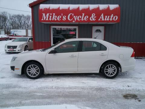 2011 Ford Fusion for sale at MIKE'S CYCLE & AUTO in Connersville IN