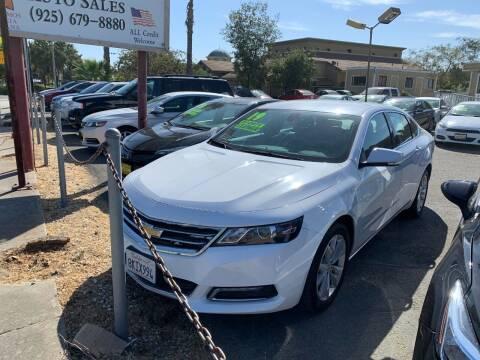 2019 Chevrolet Impala for sale at Contra Costa Auto Sales in Oakley CA
