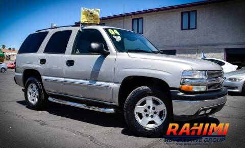 2004 Chevrolet Tahoe for sale at Rahimi Automotive Group in Yuma AZ